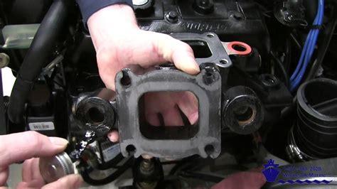 install  mercruiser dry joint exhaust manifold