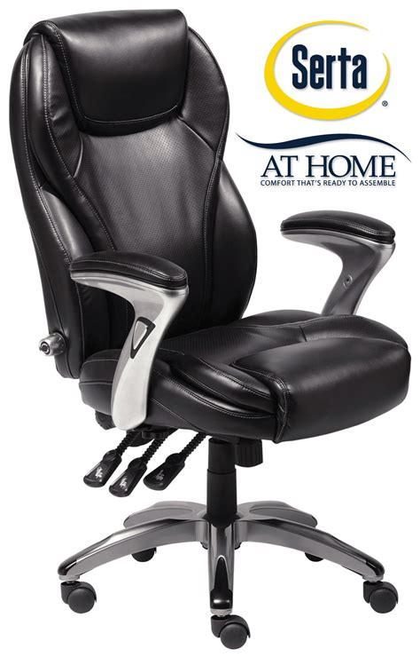 serta leather ergo executive office chair