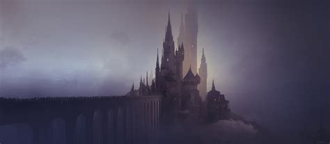 artstation foggy castle thomas dubois