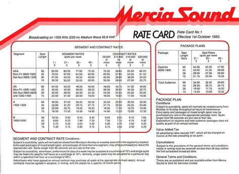 rate card templates rate sheet templates word