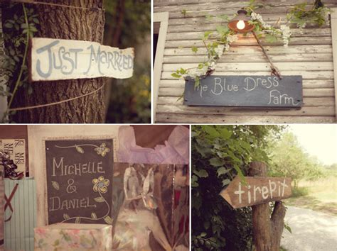 personalized rustic wedding touches wood just married