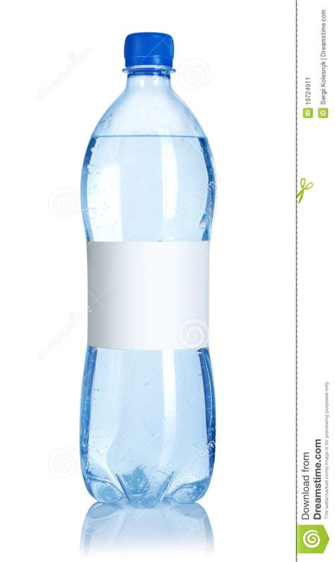 soda water bottle  blank label stock image image
