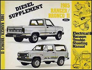 Ford Ranger Bronco Diesel Electrical