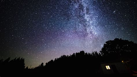 Time Lapse Rotating Night Sky With Milky Way Galaxy