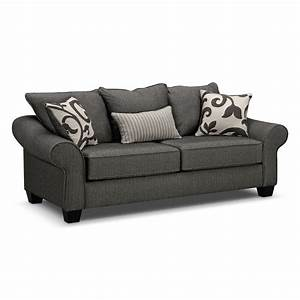 Colette gray sofa value city furniture for Sectional sleeper sofa city furniture