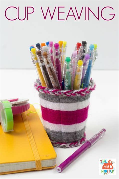 cup weaving tutorial weaving yarns  cups