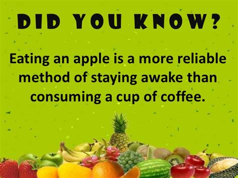 Fun facts about fruits
