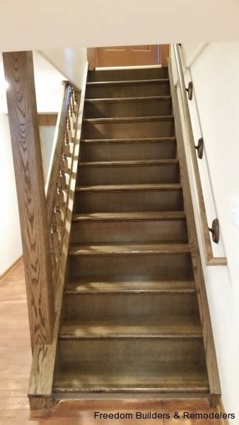 basement staircase update freedom builders remodelers