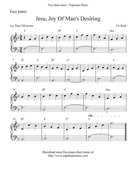 easy piano sheet  solo jesu joy  mans