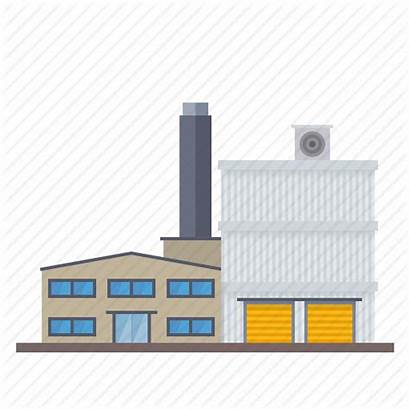 Icon Factory Building Industry Warehouse Industrial Chimney