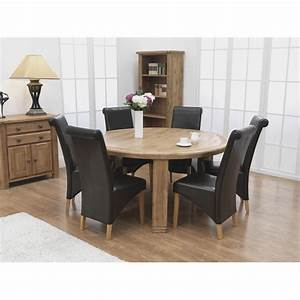 Round dining room table 6 chairs dining room decor ideas for Round dining room table sets for 6