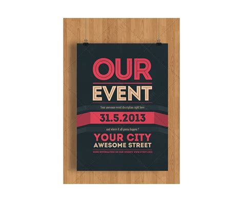 Event Flyer Template Psd Clean Minimal And Modern Theme