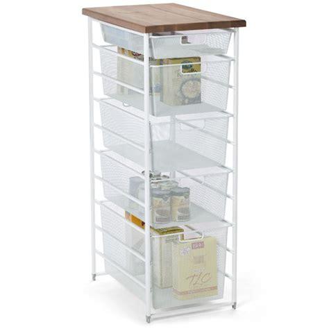white elfa mesh pantry storage the container store