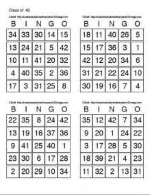 Free Printable Bingo Card Sheets