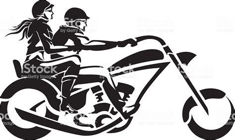 Motorcycle Chopper Couple Ride Stock Vector Art & More