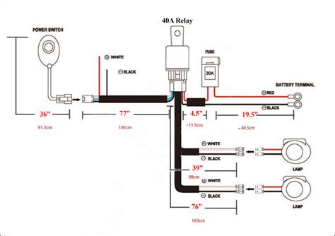 Led Light Bar Wiring Diagram For Truck by Universal Wiring Harness For Led Road Light Bar