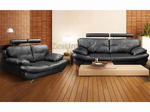 Verona black 3 2 faux leather sofa set w adjustable for Black leather sectional sofa uk
