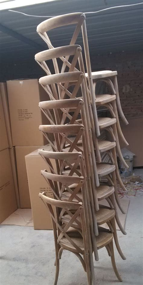stackable cross back wood banquet chair sales promotion