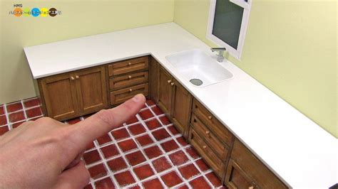 what are kitchen sinks made out of diy miniature l shaped kitchen sink ミニチュアl字型の流し台作り 9830