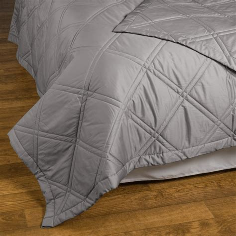 Sateen Coverlet by Allegria Linens Lattice Quilted Coverlet 300