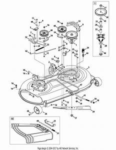Troy Bilt 13wn77ks011 Pony  2012  Parts Diagram For Mower Deck