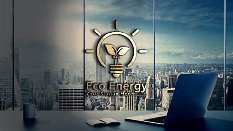 eco energy light bulb  leaves logo design graphicsfamily