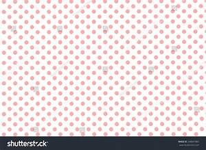 White Old Retro Paper Background With Small Pink Polka Dot ...