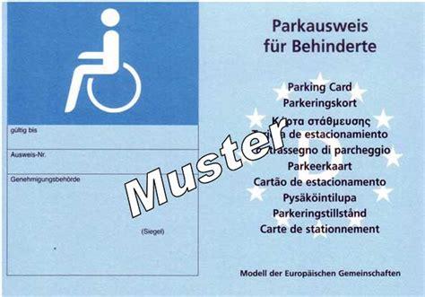schwerbehindertenausweis g parken landkreis merzig wadern verkehr