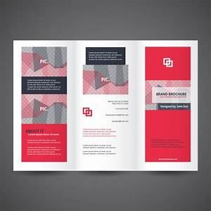 tri fold brochures templates red trifold brochure template With two fold brochure templates free download