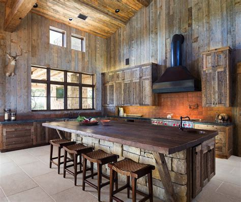 inspired kitchen designs modern rustic barn style retreat in hill country 4365
