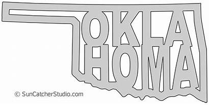 State Oklahoma Outline Shape Printable Map Pattern