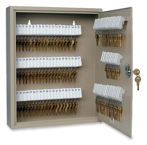safe with lock and key secure key lockbox 80 slot beige steel cabinet