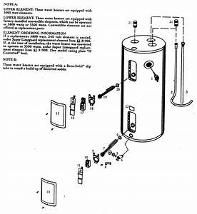 Water Heater Diagram  U0026 Parts List For Model 153326660