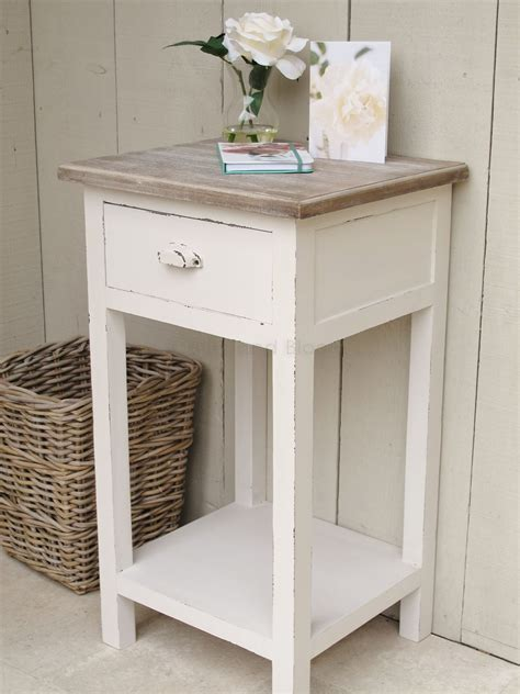 white bedside side table bliss  bloom