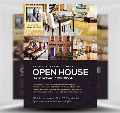 open house flyer template open house flyer template flyerheroes