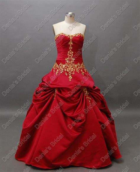 christmas luxury red wedding ball gowns pleats