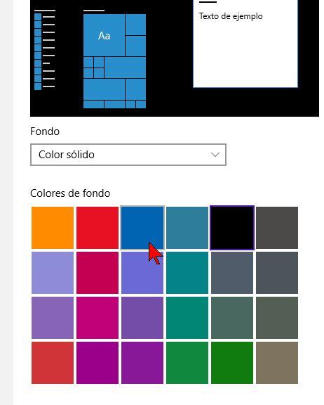 como cambiar el color de fondo del escritorio de windows