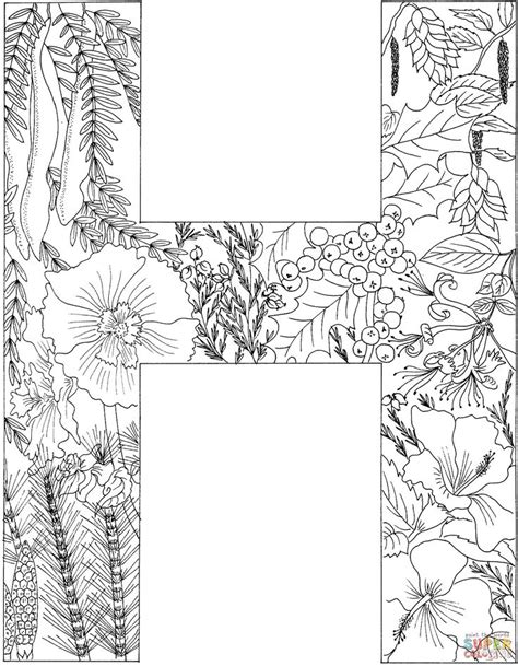 letter   plants coloring page  printable coloring pages alphabet coloring pages