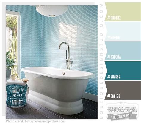 Spa Bathroom Color Schemes by Spa Oasis Color Palette Green Blue Aqua Colors In