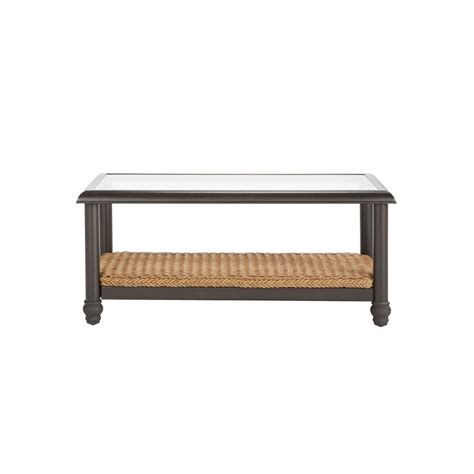 Shop for light brown coffee table online at target. Home Decorators Collection Camden Light Brown Wicker Outdoor Coffee Table-FWA60563SW - The Home ...