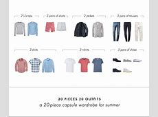 20 Pieces 20 Outfits An Easy Summer Capsule Wardrobe for