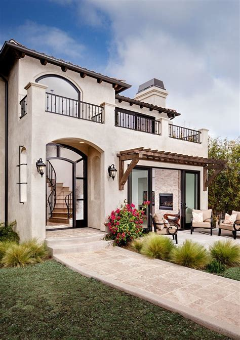 spanish stucco house exterior mediterranean  outdoor