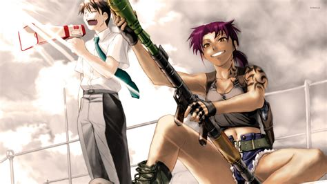 Rock Anime Wallpaper - revy and rock black lagoon wallpaper anime wallpapers