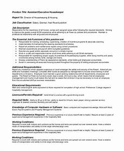 Property Manager Resume Free 8 Sample Housekeeping Job Description Templates In