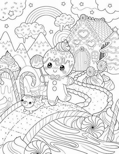 Coloring Drawing Pages Christmas Adult Printable Para