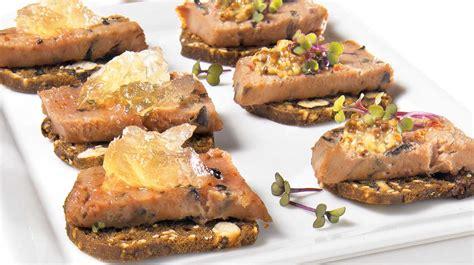 recettes canap originaux canapés à la mousse de canard recettes iga bouchées