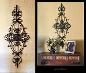 Tuscan wall decor corinthian for Kitchen colors with white cabinets with tuscan wrought iron wall art