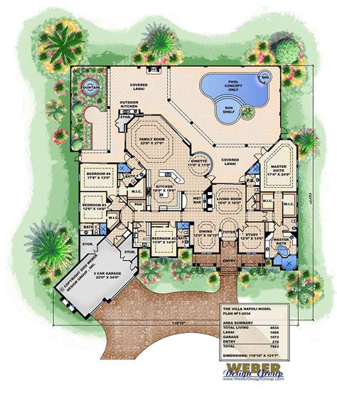 villa house plans ambergris cay house plan weber design inc
