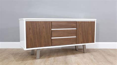 White Gloss And Walnut Sideboard  Danetti Uk. Payroll Help Desk. Desk Valet Tray. Keyboard Desk. High Top Patio Table. Wicker Storage Chest Of Drawers. 88 Keyboard Desk. Tall Desk Lamp. Toddler Desk And Chair Sets