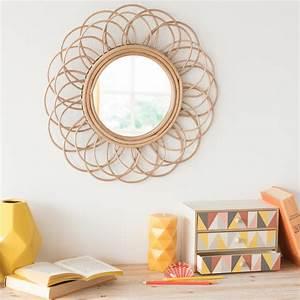 Miroir En Rotin : miroir rond en rotin d 50 cm vintage maisons du monde ~ Nature-et-papiers.com Idées de Décoration